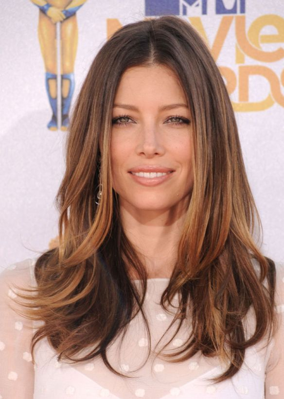 Jessica-Biel-Ombre-Hair-from-BelleontheBoulevard